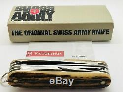 RARE STAGHORN VICTORINOX Huntsman Swiss Army Knife NEW IN BOX
