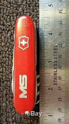RARE SWISS ARMY VICTORINOX 84MM CLIMBER Pocket Knife MULTI TOOL (DAMAGED)