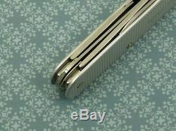 RARE! Swiss Bianco Victorinox Cadet Plus Silver Alox Swiss Army Knife NS Liner