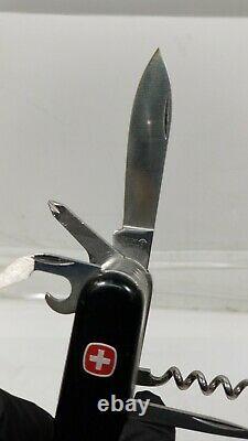 RARE Vintage EP Early Patent Wenger Swiss Army Knife Matterhorn Standard Black