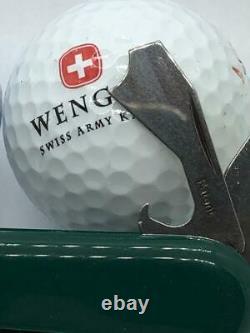 RARE WENGER SWISS ARMY Green Golf Pro Pocket Knife MULTI TOOL SAK new
