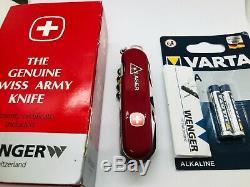 RARE WENGER SWISS ARMY LASER Pointer Pocket Knife MULTI TOOL SAK NEW BATTERIES
