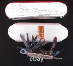 RAREST 100th Annivesary Sterling Silver Victorinox Swiss Champ Army Knife Wenger