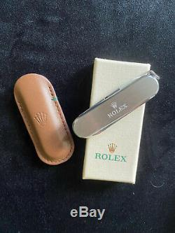 ROLEX Brand New Swiss Army Pocket Knife- Rare VIP Gift