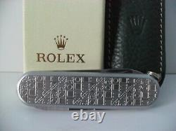 ROLEX Knife Authentic ROLEX WENGER Delemont Swiss Army Pocket Knife BRAND NEW