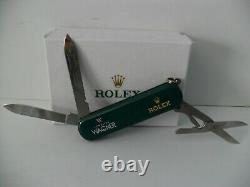 ROLEX Pocket Knife Authentic ROLEX WENGER Delemont Swiss Army Very GC + Gift Box