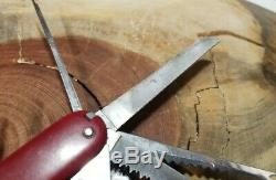 Rare Swiss Army Victoria 1960s Champion Knife With Bail Great Condition J38