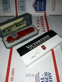 Rare Victorinox Officer Swiss Swiss Army Timekeeper Pocket Knife
