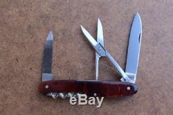 Rare WENGER TAHARA 1910 Trademark Swiss Army Knife SAK (Victorinox) FauxTortoise