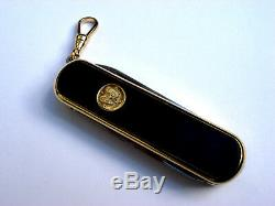 Rare Wenger Delemont Esquire 18k Gold & Black Onyx Swiss Army Knife New in Box