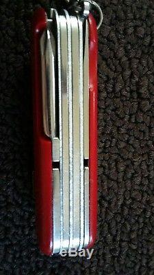 Rare Wenger Serrated Tradesman Swiss Army Knife Multi Tool Pocket Knife Tsa
