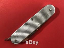 Retired Victorinox Cadet Il Line Ribbed Alox Swiss Army Knife / Old Shield Logo