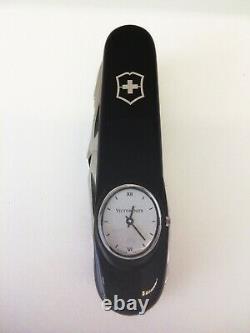 Set Victorinox Supertimer Timekeeper Black Roman Watch Swiss Army Knife New Rare