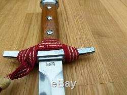 Swiss Army Dress Dagger Fighting Knife & Scabbard Knot