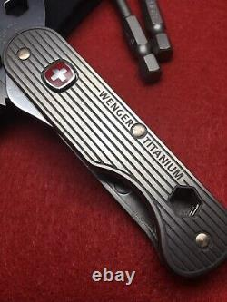 Swiss Army Knife Multitool 16998 WENGER TITANIUM 2