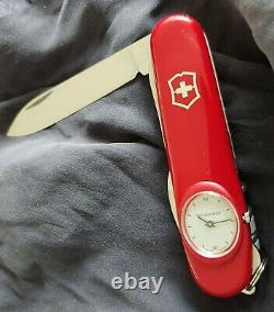 Swiss Army Knife Victorinox RED Time Keeper roman numerals OVP NEW Box & papers