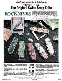 Swiss Army Knife Victorinox Rocknives Series 6 Knives Bijou / Classic Sd