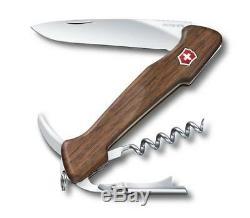 Swiss Army Victorinox 0.9701.63 Wine Master Walnut Knife With Pouch