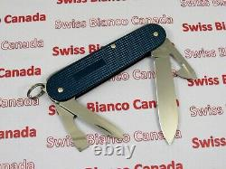 Swiss Bianco Exclusive Victorinox Cadet Teal Blue Alox Swiss Army Knife