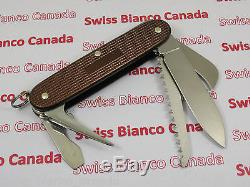 Swiss Bianco Exclusive Victorinox Harvester Brown Alox Swiss Army Knife