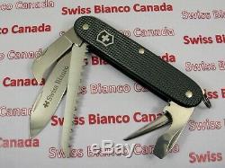 Swiss Bianco Exclusive Victorinox Harvester Dark Gray Alox Swiss Army Knife