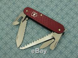 Swiss Bianco Exclusive Victorinox Micro-Farmer Burgundy Alox Swiss Army Knife