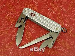 Swiss Bianco Exclusive Victorinox Micro-Farmer Silver Alox Swiss Army Knife