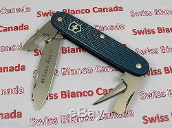 Swiss Bianco Exclusive Victorinox Soldier Teal Blue Alox Swiss Army Knife