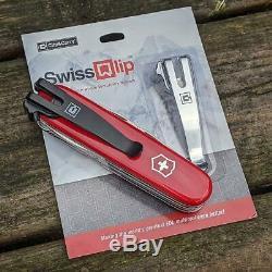SwissQlip Black Deep Carry Pocket Clip Fits 91mm Victorinox Swiss Army Knife