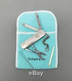 TIFFANY & C0 POCKET KNIFE Victorinox Sterling Silver Swiss Army 18k 925 750 Vtg