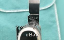 TIFFANY & CO RARE STERLING & 18K VICTORINOX SWISS ARMY KNIFE WithPOUCH