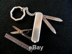 TIFFANY & CO. STERLING SILVER withGOLD CREST & STERLING KEY CHAIN-SWISS ARMY KNIFE