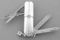 TIFFANY & Co. STREAMERICA STERLING SILVER VICTORINOX SWISS ARMY KNIFE POUCH BOX