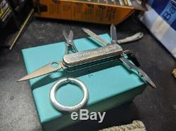 TIFFANY & Co. Sterling Silver SPYDERNOX Victorinox Swiss Army Pocket Knife
