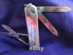 TIFFANY & Co. Sterling Silver Victorinox Swiss Army Knife 925 750 18 Gold + Free