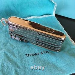 TIFFANY & Co. X VICTORINOX Swiss Army Knife Silver Vintage USED-beautiful