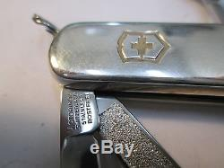 TIFFANY Swiss Army sterling AND 18K GOLD FOLDING KNIFE WITH ORIGINAL BAG & BOX