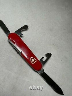 TOURIST Swiss Army KNIFE 84mm ELINOX Vintage Victorinox RED SANDOZ AWL RARE
