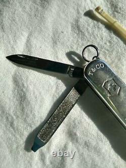 Tiffany & Co 925 Sterling Silver Victorinox Swiss Army Pocket Knife