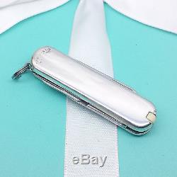 Tiffany & Co. Silver & 18K Gold Victorinox Swiss Army Knife / Key Chain Box #170
