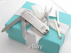 Tiffany & Co Sterling Silver 1837 Swiss Army Knife 5 Tools Pouch