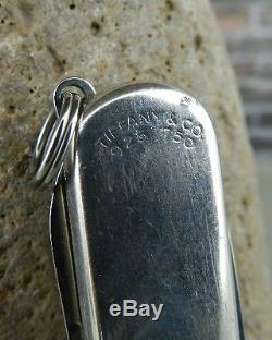 Tiffany & Co. Sterling Silver & 18K Gold Swiss Army Knife in Sheath