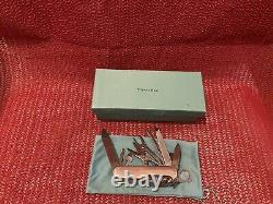 Tiffany & Co Sterling silver & 18K Gold Champ Swiss Army Knife