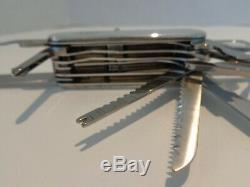 Tiffany & Co SwissChamp Swiss Army Knife Victorinox Sterling Silver 925 750 18K