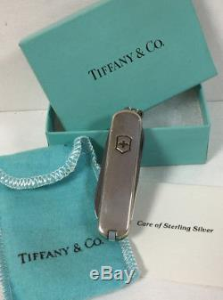 Tiffany & Co. Victorinox Sterling Silver & 18k Swiss Army Pocket Knife