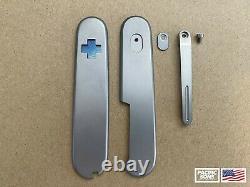Titanium Scales & Pocket Clip for 91mm Victorinox Swiss Army Knife SB