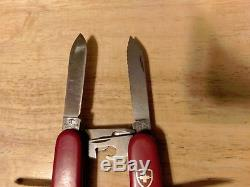 Two 70's Vintage Victorinox 91mm Swiss Army Knives Picnicker & Hiker