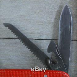 ULTRA RARE Early 60's Victorinox Farmer OLD CROSS with Bail Red Swiss Army Knife