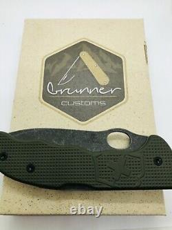 VICTORINOX Hunter Pro CUSTOM Army Green stonewash knife NEW COLLECTOR Item NIB