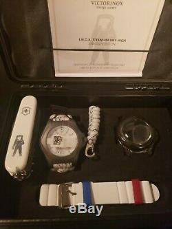 VICTORINOX SWISS ARMY LIMITED EDITION watch/knife set Titanium I. N. O. X. 241772.1